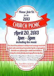 Church Picnic Flyer Template | Picnic birthday, Church and Clown faces