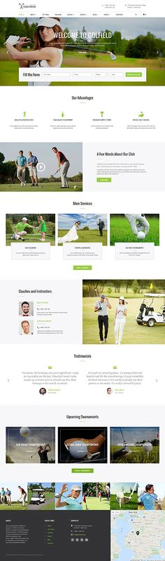 Golf Club Responsive Website Template