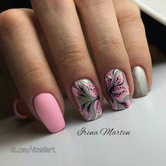 Fails diy pink summer 2015 Ideas for 2019 Pretty Nail Designs, Pretty Nail Art, Cute Nail Art, Beautiful Nail Art, Gorgeous Nails, Cute Nails, Floral Nail Art, Pink Nail Art, New Nail Art