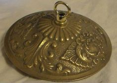 "New Victorian Style Die Cast Brass Ceiling Canopy, 5 1/2"" diameter, Unfinished"