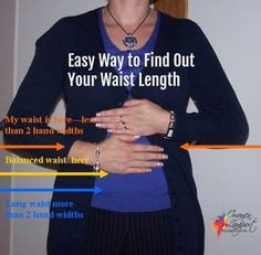Discover using only your hands if you have a short, balanced or long waist - this super quick and easy test will tell you in seconds, no measuring tape required! Short Legs Long Torso, Short Waist, Inside Out Style, Most Beautiful Dresses, Beautiful Outfits, Body Proportions, Mode Plus, Body Shapes, Fashion Advice