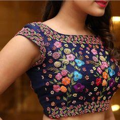 Outfit Designed by MUA Designer Blouse Ideas Fancy Blouse Designs, Bridal Blouse Designs, Designs For Dresses, Blouse Neck Designs, Kurta Designs, Blouse Designs Embroidery, Embroidery Dress, Stylish Blouse Design, Design Floral