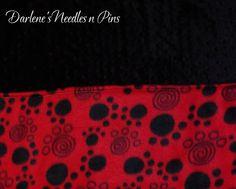 Fleece Pet/Dog /Black Minky Blanket/Small by DarlenesNeedlesnPins