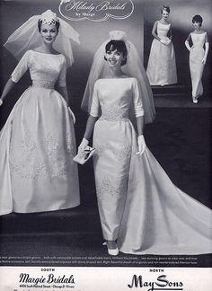 1960s bridal fashions
