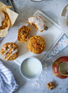 Apfel Möhren Muffins Rezept   Zucker, Zimt und Liebe