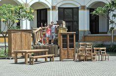 Teak furniture @ Lawang Sewu Semarang Indonesia!