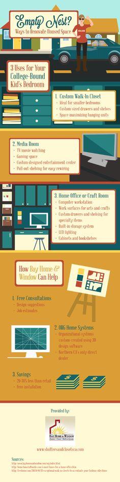 Empty Nest? Ways To Renovate Unused Space #Infographic