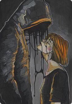 Gsce Art Sketchbook Portraits People Ideas For 2019 Dark Art Drawings, Scary Art, Dark Fantasy Art, Art Sketchbook, Cool Artwork, Love Art, Art Sketches, Art Inspo, Watercolor Art