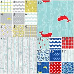 Modern Maritime Modern Baby Bedding Crib Set by modifiedtot. Number 3 for the pop of citron/ochre