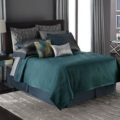 Jennifer Lopez bedding collection Exotic Plume Coverlet