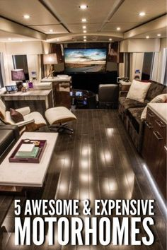 5 Awesome & Expensive Motorhomes that will quench your taste for extravagance this summer. Can you afford this extravagance? Click to find out. #luxury