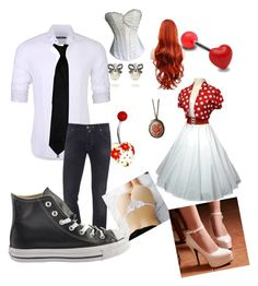 """Dinner as one"" by alicewholocked on Polyvore featuring Stone Rose and Jacob Cohёn"