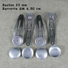 Barrettes/Boutons à recouvrir 23 mm fournitures pour réaliser vos créations... Barrettes, Sea, Life, Collection, Buttons, The Ocean, Ocean