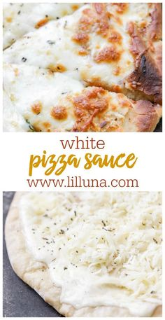 A creamy, cheesy white pizza sauce that will make you want pizza every night! Th… A creamy, cheesy white pizza sauce that will make you want pizza every night! This Alfredo sauce is the perfect white sauce to top your pizza with. Pizza Blanca, White Sauce Recipes, White Pizza Recipes, Pizza Sauce Recipes, Recipes With Alfredo Sauce, Homemade Pizza Recipe, Gourmet Pizza Recipes, Keto Pizza Sauce, Healthy White Sauce Recipe