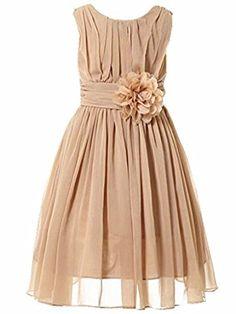 d563ba381 Amazon.com: Bow Dream Little Girls Elegant Ruffle Chiffon Summer Flowers  Girls Dresses: Clothing