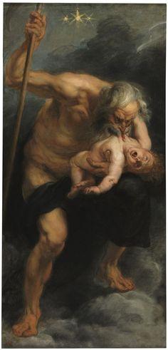 """Peter Paul Rubens, Saturn Devouring His Son ( 1636 ) """
