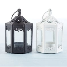 "Ophelia & Co. 6 Piece 5.5"" Glass Tabletop Lantern & Reviews   Wayfair Lantern Centerpieces, Lanterns Decor, Candle Lanterns, Glass Candle, Tea Light Candles, Pillar Candles, Tea Lights, Centerpiece Wedding, Shabby Chic Lanterns"