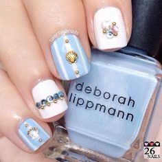Adding studs and jewels to your nails can add a little pop!