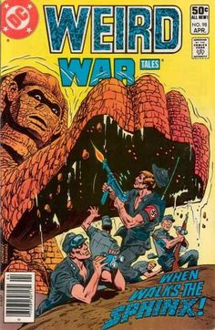 When walks The Sphinx!  I used to love this series- especially the Creature Commandos. ~ I think I HAD this issue!