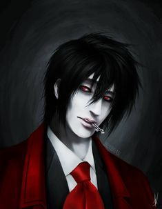 Alucard - Hellsing Fan Art by Yokitho on DeviantArt - Alucard – Hellsing Fan . - Alucard – Hellsing Fan Art by Yokitho on DeviantArt – Alucard – Hellsing Fan Art by Yokitho - Hellsing Cosplay, Hellsing Alucard, Clavicle Tattoo, Aesthetic Japan, Itachi Uchiha, Naruto, Dark Lord, Dark Fantasy Art, Digital Art