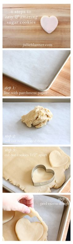Bakery Style sugar cookies in 4 easy steps! It's my go to cutout sugar cookie recipe.