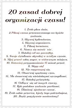 Trendy w kategorii edukacja w tym tygodniu - Poczta E Mc2, Study Motivation, School Organization, Study Tips, Self Development, Time Management, Better Life, Self Improvement, Life Hacks