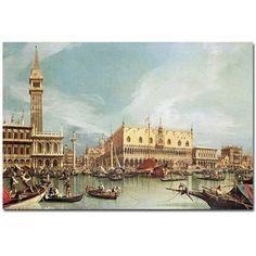 Trademark Art The Molo, Venice Canvas Art by Canaletto, Size: 16 x 24, Multicolor