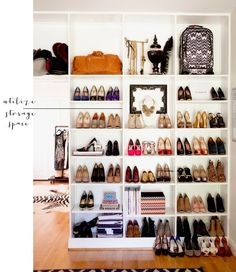 shoes purses closet organization display storage spring cleaning _ glitterinc.com