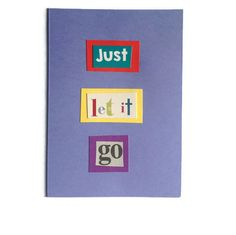 Just Let It Go Christmas Card in PURPLE comes with FREE UK Postage ~ Unique Festive Greeting - pinned by pin4etsy.com
