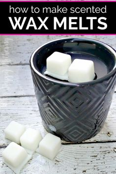 Do you want to learn how to make scented wax tarts? Get our DIY natural wax melts recipe using coconut oil and essential oils or fragrance oils. These handmade melts are edible too, making them the be Best Wax Melts, Diy Wax Melts, Scented Wax Melts, Diy Candle Melts, Candle Wax, Recipe Using Coconut Oil, Wax Burner, Wax Warmers