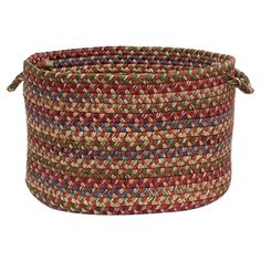 I've never thought of braided rugs as baskets! Eep!