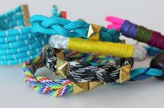 5 Ways to Make Trendy Rope Bracelets via Brit + Co.
