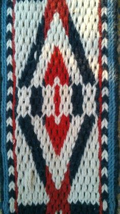 Card weaving blue red