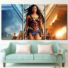 3 Piece Wonder Woman Princess Diana Canvas Wall Art