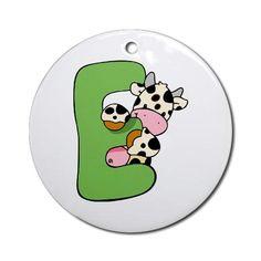 Zoo Alphabet E - Cow