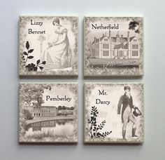 jane austen magnets... English major love