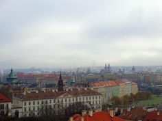 #Prague, the city of a hundred spires, is beautiful. Even on a hazy day. More on Prague here: http://www.footprintsandmemories.com/tag/prague/