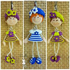 This gives me an idea for something else. Polymer Clay People, Cute Polymer Clay, Cute Clay, Polymer Clay Dolls, Polymer Clay Projects, Polymer Clay Charms, Polymer Clay Creations, Polymer Clay Jewelry, Clay Crafts