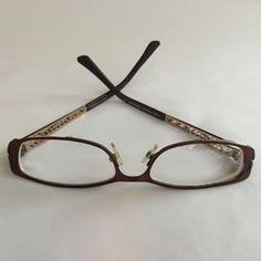 TAKUMI Women's Eyeglasses Magnetic CLIP-ON T9737 Brown Gold Accents Prescription #TAKUMI