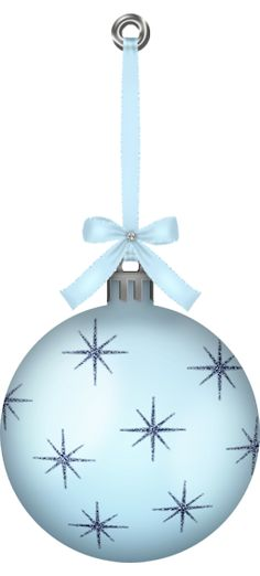 Christmas ornaments large clip art Clip Art Holiday Scrapbook - blue and silver christmas decorationschristmas tree decorations