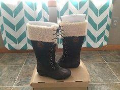 UGG Australia Edmonton Stout/Black/Brown Lace Boots Women's size 8.5