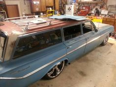 My husband's (Maurice Day) '61 Wagon...getting it ready for Cruisin the Coast in Biloxi in October.