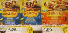 Old El Paso Comidas Conjeladas Solo $1.99 En Target!