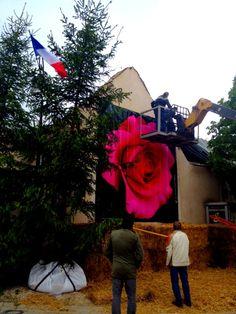 Mise en place de la ROSE de 16m2 pour les 20 ans de la Foire aux Plantes Rares de Bezouotte : création et fabrication par la SARL MALOU CRÉAMIR 21160 Marsannay la Côte