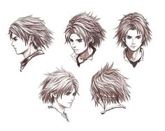 Nowe Face Sketches from Drakengard 2