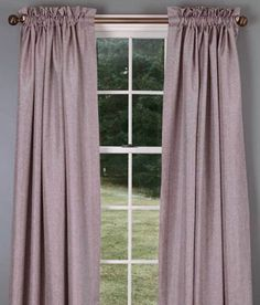 Get bedroom curtains, Soft Tweed Lined Rod Pocket Curtains - Amethyst