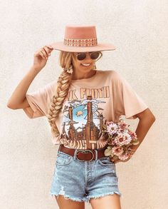 Cowgirl Outfits, Outfits With Hats, Chic Outfits, Fashion Outfits, Trendy Outfits, Western Outfits Women, Western Dresses, Cute Country Outfits, Cute Country Clothes