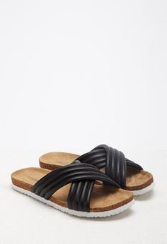 ribbed sandals