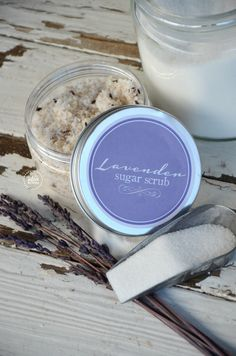 Customize your special gift for Mother's day with GLAMULET PHOTO charms. compatible with Pandora bracelets.DIY Lavender Sugar Scrub recipe and FREE printable label. :) GREAT Mother's Day or Birthday Gift Idea! DIY Party Favors, anyone? Sugar Scrub Recipe, Sugar Scrub Diy, Sugar Scrubs, Salt Scrubs, Diy Body Scrub, Diy Scrub, Lavender Sugar Scrub, Homemade Scrub, Homemade Beauty Products