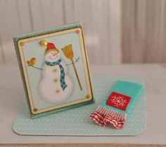Miniature Snowman Picture And Matching por LittleThingsByAnna